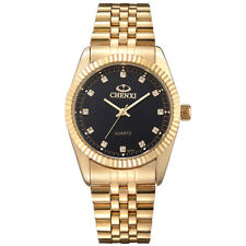 CHENXI Xmas Gold Fashion Men's Stainless Steel Quartz Analog Wrist Watch Gift