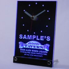 tncpx-tm Tavern Beer Ale Personalized Bar Pub Neon Led Table Clock