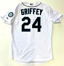 KEN GRIFFEY JR. SEATTLE MARINERS AUTHENTIC MLB MAJESTIC ON FIELD HOME JERSEY NEW