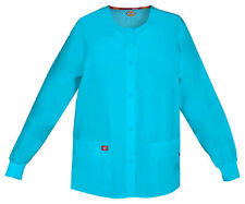 Scrubs Dickies EDS Snap Front Warm-Up Jacket 86306 Turquoise TQWZ FREE SHIPPING