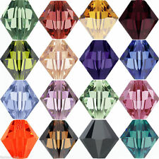 Wholesale 50/100Pcs Faceted Glass Crystal Loose Bicone Spacer Charms Beads Craft