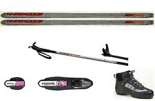 NEW Metal Edge XC cross country NNN SKIS/BINDINGS/BOOTS/POLES PACKAGE - 157cm
