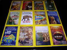 12 NATIONAL GEOGRAPHIC MAGAZINE COMPLETE SET 1980-2016 ~ NO SUPPLEMENTS/MAPS