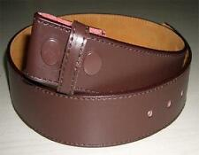 "Belt - New Leather Dark Brown Stitched Snap On Belt suits 1.5"" (40mm) Buckles"