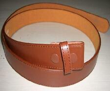 "Belt - New Leather Tan Stitched Snap On Belt suits 1.5"" (40mm) Removable Buckles"