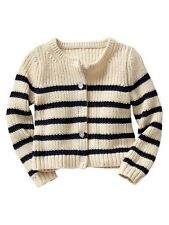 Baby Gap NWT Ivory Navy Striped Cardigan Sweater 12-18 3 3T 5 5T $30