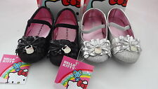 NWB Girls Hello Kitty Lil Carla Sparkle Bow Shoe with Kitty Charm