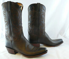 Lucchese Cowboy Boots Men Chocolate Leather Boots G9937