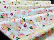 "Vintage Abstract Floral Printed Fabric 100% Cotton Poplin  44"" Wide  M531 Mtex"