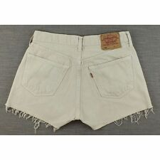 Levis 501 Womens Beige Vintage Hotpants  Denim Shorts  W31 L12 (19121)