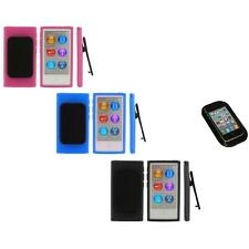 Color TPU Rubber Case Cover Belt Clip+Sticky Pad for iPod Nano 7th Gen 7 7G
