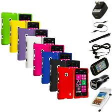 For Nokia Lumia 521 Snap-On Hard Rubberized Matte Case Cover 7X Accessories