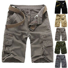 Fashion Mens Summer Combat Cargo Jeans Shorts Casual Denim Short Pants For Male