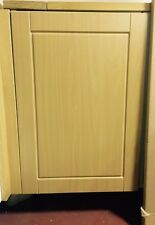 Medium Beech Effect Shaker Fitted kitchen cupboard cabinet door & drawer fronts