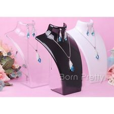 1Pc Bust Mannequin Necklace Organizer Jewellery Pendant Display Stand Holder