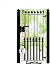 """Wrought Iron Steel Metal Side Gate - """"Coniston"""" 6ft Tall Gate with LOCnlatch"""