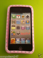 ipod touch 4 4th generation pink diamond gel rubber silicone skin cover case