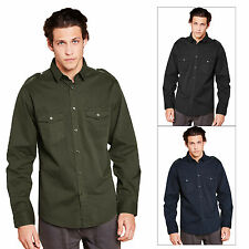 Brave Soul Charlie Mens Shirt New Designer Long Sleeved Button Up Collared Top