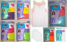 Fruit of the Loom Girl's 100% Cotton 3-Pack Camis Camisoles or Tank Tops Sz L-XL