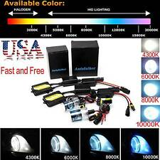 Full Canbus 55W AC HID Xenon Conversion Kit No Flicker H1 H3 H7 H11 9005 9006
