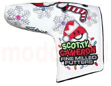 "NEW SCOTTY CAMERON AUTHENTIC ""SANTA PUTTER MAN"" LARGE PUTTER HEAD COVER (WHITE)"