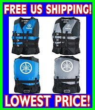 YAMAHA Value Nylon 3-Buckle Mens USCG Approved Life Vest Jacket BLUE GRAY BLACK