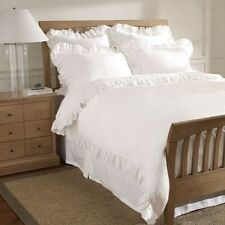 100% EGYPTIAN COTTON 3PC DUVET SET WITH FRILL 500TC-SIZE:TWIN/QUEEN/KING