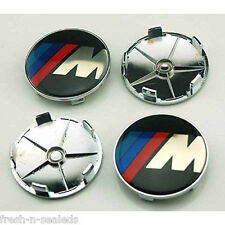 NEW 4pcs ///M 68mm Hub Center Caps Wheel Emblem Logo Badge for BMW