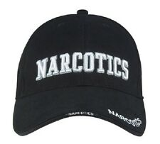 Rothco 9399 Deluxe Low Profile Cap Blk - Narcotics