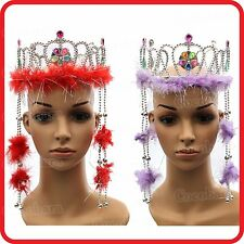 KIDS CHILDRENS GIRLS ADULTS PRINCESS QUEEN FAIRY JEWELED CROWN TIARA-COSTUME