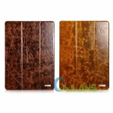 AU Ship Icarer Oil Wax Genuine Leather Smart Stand Case Cover For ipad Pro12.9''