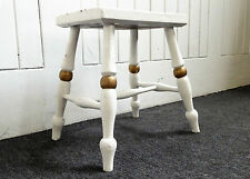 Antique shaped rustic painted foot stool / milking stool / cracket / footstool