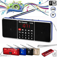 Portable LCD Digital FM Radio Stereo Speaker USB AUX TF Card MP3 Music Player UK
