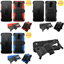Armor Stand Combo Holster Clip Cover Protector Phone Case LG Stylo 2 Plus MS550