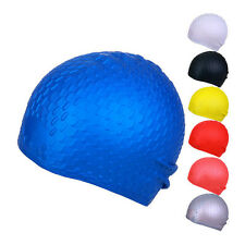 Silicone Swim Caps Swimming Bathing Hat Waterproof Water Drop Pattern Men Women
