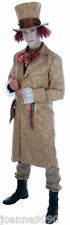 Mens Dickensian Toff Alice in Wonderland Mad Hatter Fancy Dress Costume Outfit