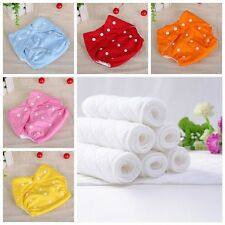 Adjustable 10pcs+10 INSERTS Reusable Lot Baby Washable Cloth Diaper Nappies New