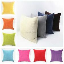 Fashion Home Sofa Decor Big Square Corduroy Throw Sofa Pillow Case Cushion Cover