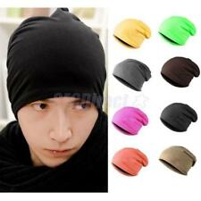 Unisex Hip-hop Baggy Beanie Hats Full Cover Elastic Skull Hat Slouchy Cap