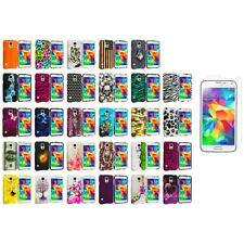 For Samsung Galaxy S5 Hard Design Rubberized Case Cover + Screen Protector