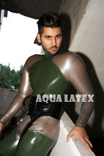 Fashion Latex Costume Sexy Rubber Catsuit Cosplay