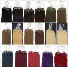 16''18'' 20'' 22''Human Hair Extensions Loop Micro Rings Beads Tipped 100s New