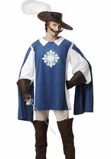 Musketeer Costume Mens Adult Rennaisance Three Musketeers - M, L, XL Plus Size