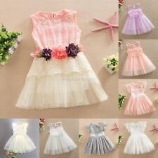 Kids Baby Girl Summer Dress Lace Flower Tulle Party Princess Dress Clothing Gift