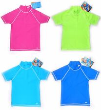 Swim Shirt Tee Rashguard Surf Vest Swimsuit Kids Child Sun Protective Swimwear