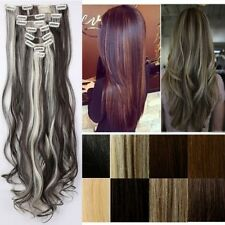 US Long 8Pcs/Set Full Head Clip in Hair Extensions Extentions as remy style F77