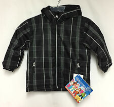 Obermeyer Boys/Kids Preschool Slalom Ins Snow Ski Winter Jacket Black Plaid NEW