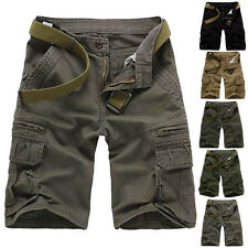 Fashion Mens Summer Combat Cargo Jeans Shorts Casual Pocket Short Pants For Male