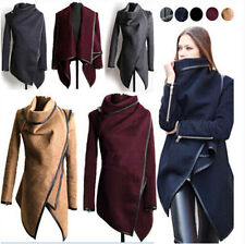 Women Wool Winter Long Coat Jacket Overcoat Trench Windbreaker Parka Outwear ZZ