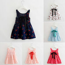 Children Girl Baby Kid Party Wedding Pageant Dress Clothes Floral Princess Dress